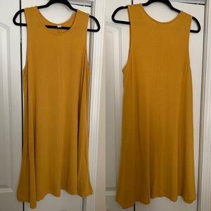 Mustard Old Navy Swing Dress